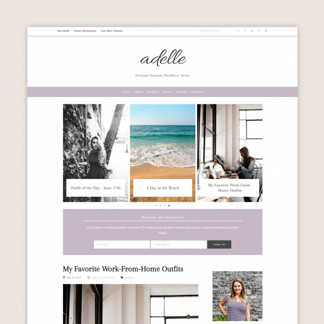 Adelle Theme by Code + Coconut