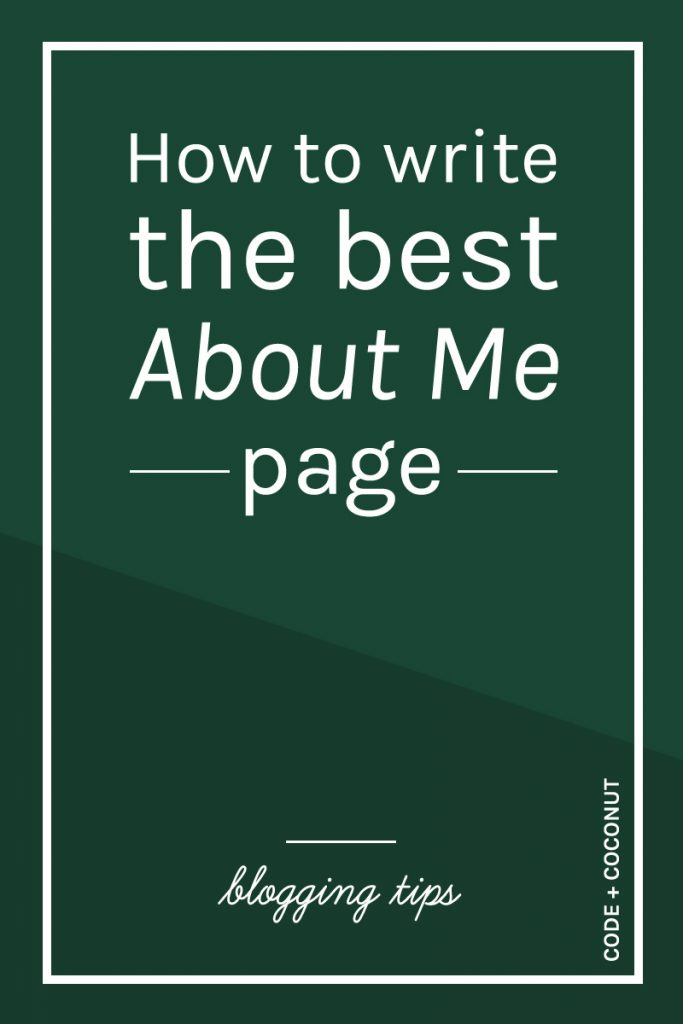 How To Write The Best About Page