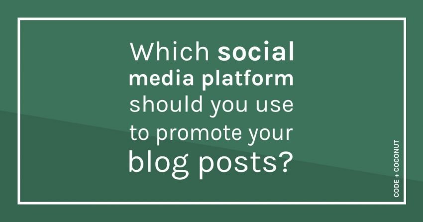 Which Social Media Platforms Should You Use to Promote Your Blog Posts?